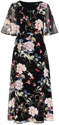 Hallhuber Midi dress with maxi floral print