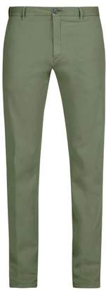 J.w.brine J.W. Brine J.w. Brine - Owen Cotton Blend Jersey Chino Trousers - Mens - Green