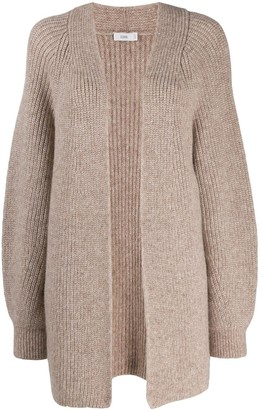 Closed knitted cardigan