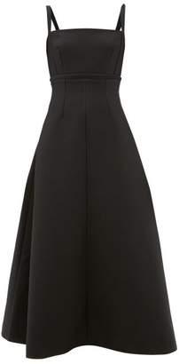 Emilia Wickstead Freya Cloque Midi Dress - Womens - Black