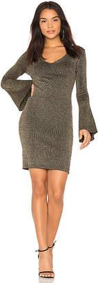BCBGeneration Metallic Ribbed Dress