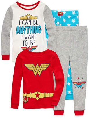 WONDER WOMAN 4-pc. Wonder Woman Pant Pajama Set Girls