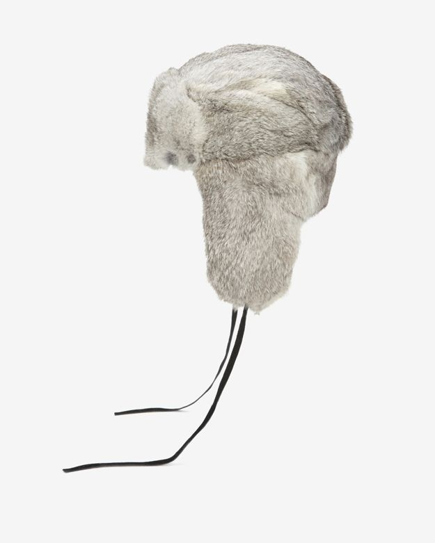 Hat Attack Fur Trapper Hat: Grey