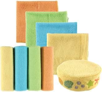 Luvable Friends 8 Piece Washcloths and Bonus Sponge