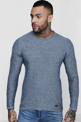 boohoo Mini Roll Neck Marl Jumper