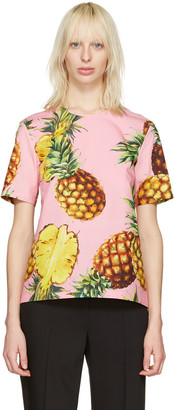 Dolce & Gabbana Pink Pineapple Blouse $675 thestylecure.com