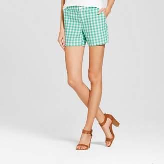 "Merona Women's 5"" Gingham Chino Shorts - Merona Tumble Green $19.99 thestylecure.com"