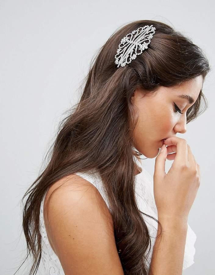 ASOS BRIDAL Ornate Crystal Hair Comb
