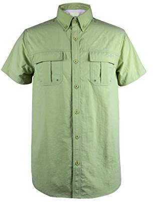 Co Trailside Supply Men's Quick-dry Nylon Breathable Insect-repellent Fishing Shirt Short Sleeve