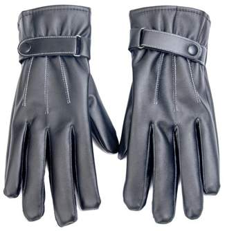 The Source Force Men's Faux Leather Touchscreen Gloves