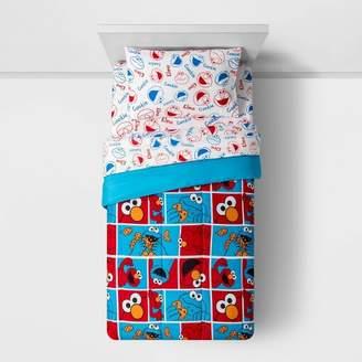 Sesame Street Twin Elmo Cookie Squares Bedding Set Red