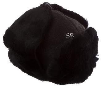 Sonia Rykiel Fur-Trimmed Wool Hat