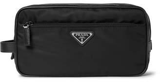 Prada Saffiano Leather-Trimmed Nylon Wash Bag