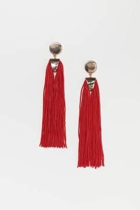H&M Long Earrings - Gold-colored/black - Women
