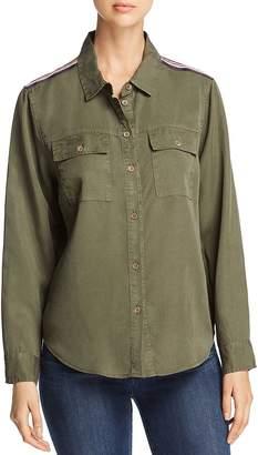 Velvet Heart Saphire Long Sleeve Military Shirt