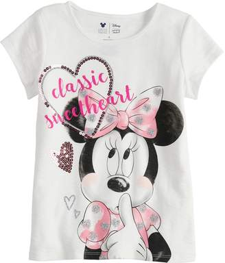 Disney Minnie Mouse Toddler Girl Sweetheart Tee By Jumping Beans