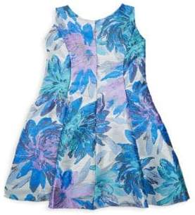 Zoë Ltd Girl's Floral A-Line Dress