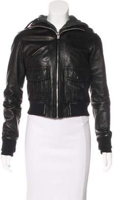 R 13 Leather Bomber Jacket w/ Tags