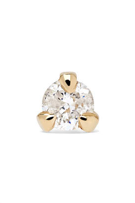 STONE AND STRAND - Teeny 14-karat Gold Diamond Earring - one size