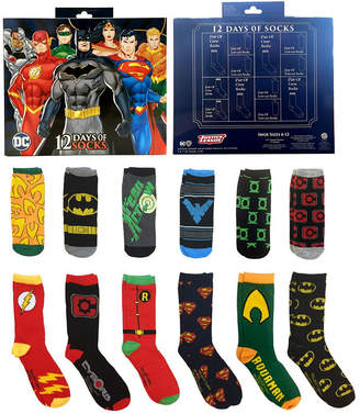 Justice DC COMICS 12 Days of Socks Gift Box League Crew Socks-Mens