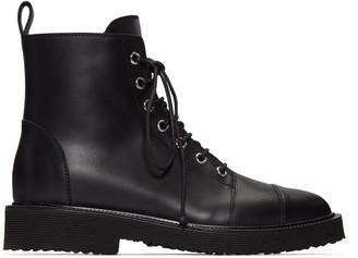 Giuseppe Zanotti Black Hillary Ankle Boots $1,095 thestylecure.com