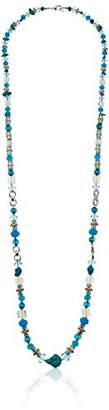 Cotton Candy Napier Silver-Tone and Strand Necklace