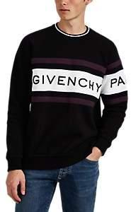 Givenchy Men's Logo Colorblocked Cotton Fleece Sweatshirt - White