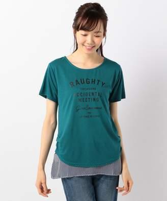 anyFAM (エニィファム) - any FAM 【接触冷感】シフォンドッキング ロゴTシャツ(C)FDB