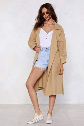 Nasty Gal Troubles Belt Away Trench Coat