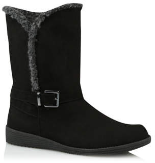 George Black Wide Fit Borg-lined Boots