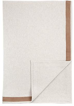 Arabella Rani Suede-Detailed Cashmere Palermo Throw - Pearl