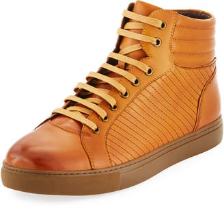Zanzara Men's Youse Leather High-Top Sneakers