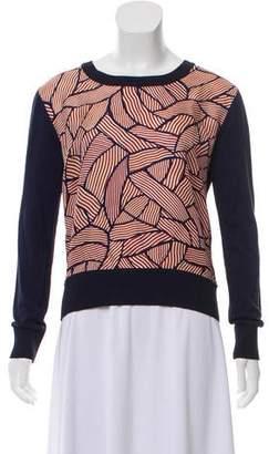 Diane von Furstenberg Printed Scoop Neck Sweater