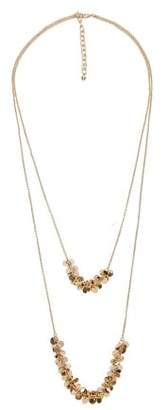 Violeta BY MANGO Chain waterfall necklace