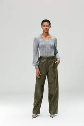 Veda Bess Leather Trouser Olive