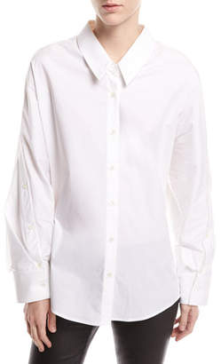 Palmer Harding palmer//harding Mom Button-Front Long-Sleeve Poplin Shirt