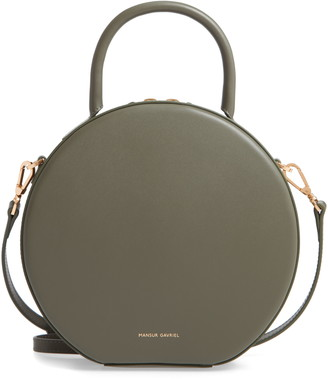 Mansur Gavriel Calfskin Leather Circle Crossbody Bag