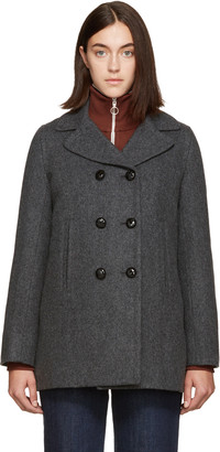 A.P.C. Grey Harper Coat $620 thestylecure.com
