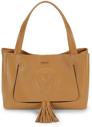 Call Of The Wild Valentino By Mario Valentino Ollie Leather Tassel Tote