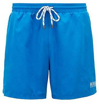 HUGO BOSS Quick-dry swim shorts with embroidered detailing