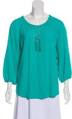 Diane von Furstenberg Tassel Button-Up Top