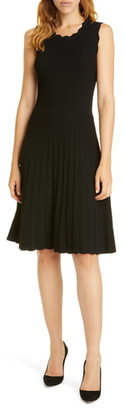Rebecca Taylor Tailored by Scalloped Ribbed Dress