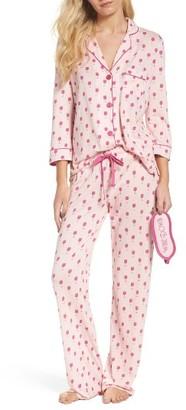 Women's Pj Salvage Playful Print Pajamas & Eye Mask $88 thestylecure.com