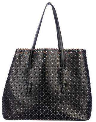 7cd28bd84c8 Alaia Laser Cut Studded Tote