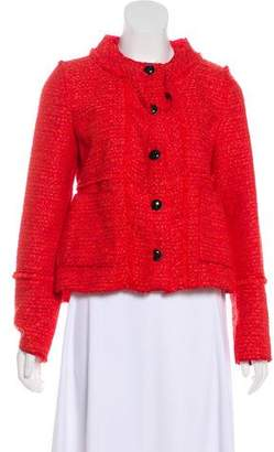 Proenza Schouler Fringe-Trimmed Tweed Jacket