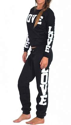 VIP Womens Riva Love Print 2 Piece Sweater/joggers Tracksuit (Inx)