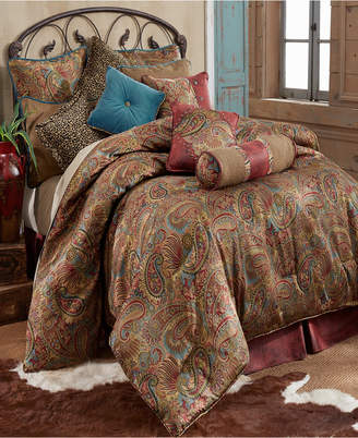Hiend Accents San Angelo 4-Pc. Super King Comforter Set, Red Bedding