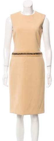 Ralph Lauren Suede-Accented Sheath Dress