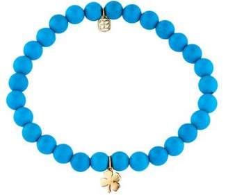 Sydney Evan 14K Turquoise Clover Bead Bracelet