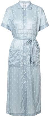 Julien David crinkled polka dot shirt dress